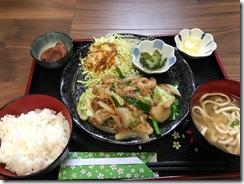 やんばるあぐーと島野菜の味噌炒め定食¥1300